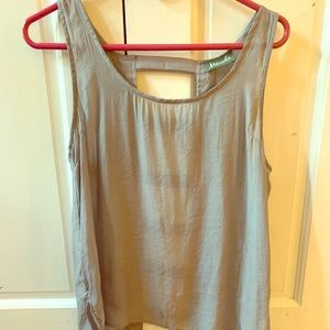Grey top with cutouts